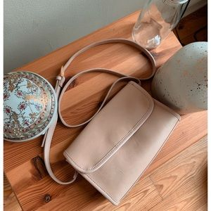 lord & taylor • nude • crossbody leather / suede